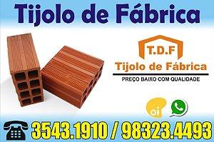 Tijolo 8 Furos direto de Fábrica tijolos de qualidade Lagoa do Carro
