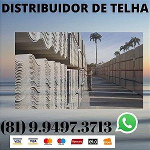 Telha ondulada Fibrocimento Eternit 2.44 x 1.10 (5mm) Recife