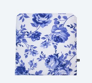 Porta-Jaleco® Standard Rosas Azuis