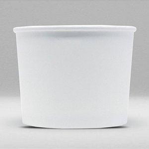 Pote de Papel Branco Biodegradável e Reciclável 500ml Caixa com 600 Unidades