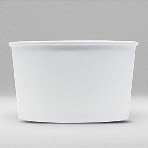 Balde de Papel Branco Biodegradável e Reciclável 1,5 Litros Caixa com 400 Unidades