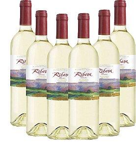 Kit Com 6 Ribera Reserva Sauvignon Blanc 2018 Vinho Chileno