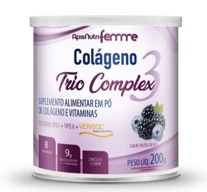 Colágeno Trio Verisol + Tipo II - Sabor Frutas Negras 200g
