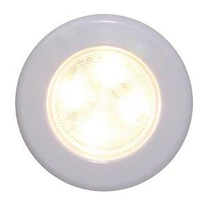 Luz De Cabine E Cortesia Náutica Branco Quente