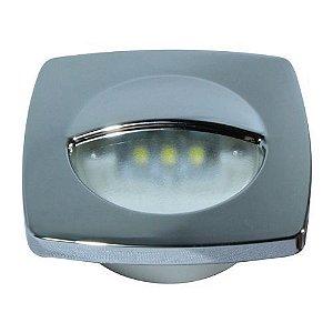 Luz de cortesia 3 leds acabamento cromado 12v lancha