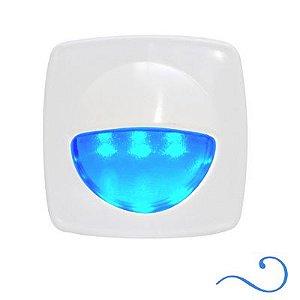 Luz de cortesia 3 leds Azul 12v