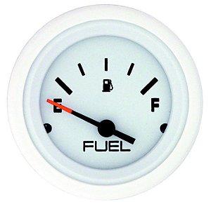 Relógio Ind. De Nível De Combustível Mercury Branco c/ aro Branco
