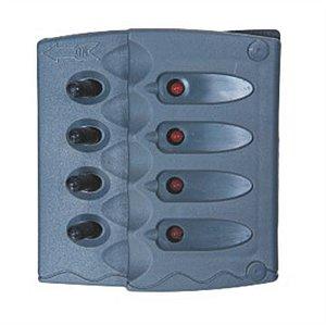 Painel Interruptor Náutico 4 Botões 12v Lancha