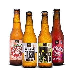Kit de Cerveja Artesanal 4Pack com Cervejas Variadas - 355ml cada