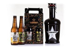 KIT de Cervejas Artesanais com Growler de Cerâmica de 2 Litros + German Pilsen + IPA Todo Dia 355ml