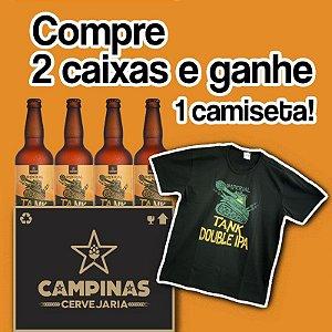 2 Caixas com 24 unid. da CAMPINAS Imperial TANK IPA 500ml - Ganhe Uma Camiseta!