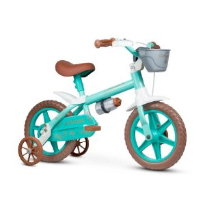 Bicicleta Nathor Aro 12 Infantil Antonella Baby Verde