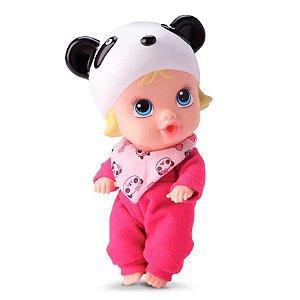 Boneca Bebê Little Dolls Soninho Panda Faz Xixi Divertoys