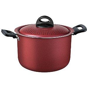 Espagueteira Loreto Em Alumínio Antiaderente Vermelha 22 Cm