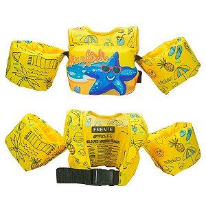 Colete Salva Vidas Infantil Boia Braço Amarelo Prolife
