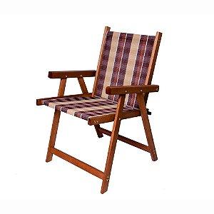 Cadeira Dobrável De Madeira Veneza Jardim Varanda