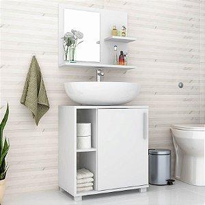Conjunto Para Banheiro Branco Brv Móveis