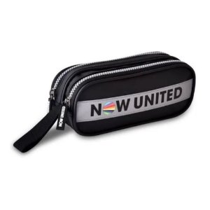 Estojo Escolar Now United Preto 2 Compartimentos Nu3259