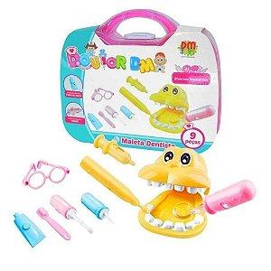 Kit Médico Infantil Maleta Dentista Com Acessórios DM Toys