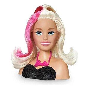 Boneca Barbie Busto Styling Hair c/ Acessórios Cabelo Pupee
