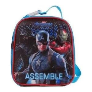 Lancheira Soft Avengers Marvel Vingadores Escolar Dmw 11630