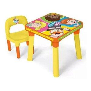 Mesinha Infantil Mundo Bita Mesa Didática Divisória/Cadeira