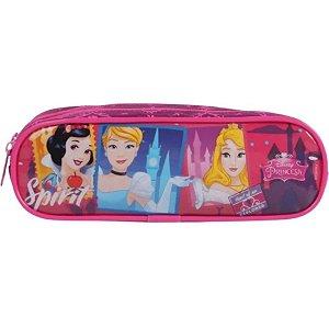 Estojo Escolar Duplo Soft princesas Infantil Dmw 52095