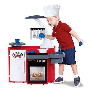Mini Cozinha Infantil Completa Armário Pia Fogão Geladeira