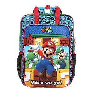 Mochila De Costas G Escolar Super Mario Infantil Dmw 11734
