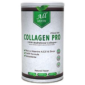 Collagen Pro ( 400G Sem Sabor Hidrolisado + 5HTP ) All Green Labs