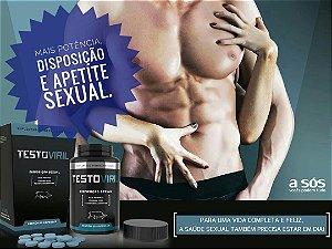 Testoviril Suplemento Mineral para Disposição Sexual Masculina 60 cápsulas