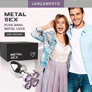 Plug Anal Metal Luck Cromado