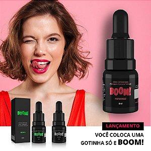 Boom Gotas Elétricas Excitante Feminino Morango 8ml