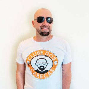 Camiseta Branca Clube dos Carecas