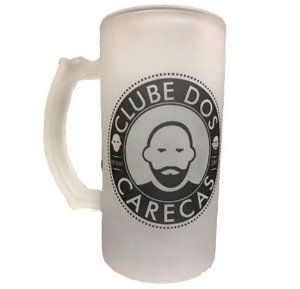 Caneca de Chopp em vidro jateado Personalizada Clube dos Carecas