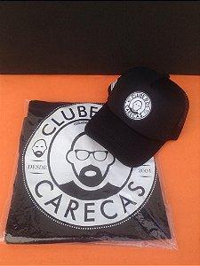 Kit Camiseta e boné personalizado Clube dos Carecas