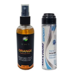 Kit Manutenção Removedor Orange 100ml, Max Hold Sport 41ml