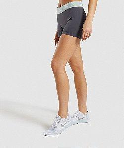 Shorts Fitness Feminino Cinza