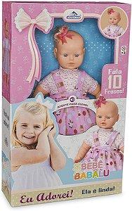 Boneca Bebê Babalu Fala 10 Frases - Adijomar