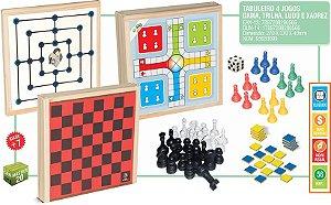 Ludo - Dama - Trilha e Xadrez - Iob Brinquedos