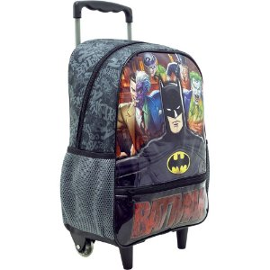 Mochila/Mala com Rodas 14 Batman Danger - Xeryus