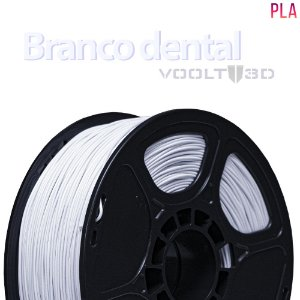 FILAMENTO IMPRESSÃO 3D VOOLT PLA BRANCO DENTAL 1KG