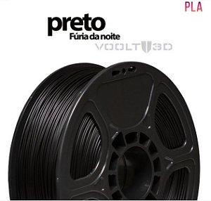 FILAMENTO IMPRESSÃO 3D VOOLT PLA TRANS PRETO FURIA DA NOITE 1KG