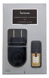 Aromatizador Standard Black Essência Vanilla - Via Aroma