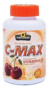 C-max Vitamina C 200 Tabletes Mastigáveis - Sunflower