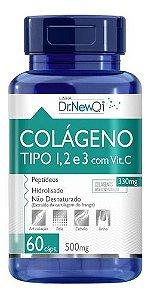 Colágeno 1, 2 E 3 Vitamina C 60 Cápsulas 500mg - Dr New Qi