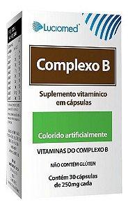 Suplemento Vitamínico Complexo B 30 Cápsulas - Luciomed