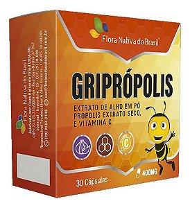 Vitamina C E Extrato De Alho Griprópolis 30 Cápsulas 400mg
