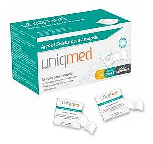 Lenço Umedecido Para Assepsia 100 Unidades - Uniqmed