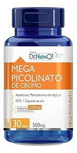 Mega Picolinato De Cromo 30 Cápsulas 500mg - Dr New Qi